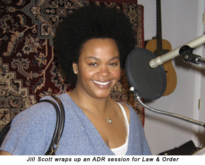 Jill Scott wraps up an ADR session for Law & Order