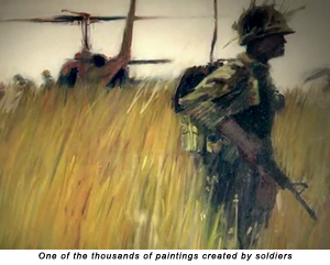 One of the thousands of paintings created by soldiers