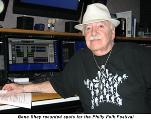 Gene Shay recorded spots for the Philly Folk Festival