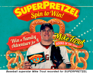 Baseball superstar Mike Trout recorded for SUPERPRETZEL