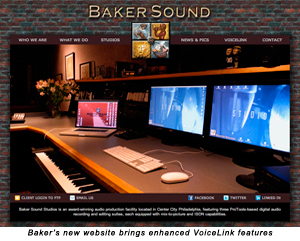 Baker's new website features enhanced VOICELINK capabilities